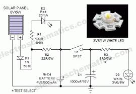 portable solar powered lantern circuit solar lantern schematic