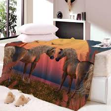 Horse Design Throw Blanket Us 16 11 28 Off Anime Horse Print Throw Blanket On The Bed Romantic Letters Sherpa Fleece Blanket Heart Plush Dropship In Blankets From Home