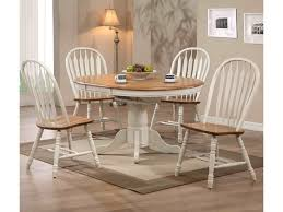 E.C.I. Furniture Dining White-Trimmed Round Table with Arrow Back ...