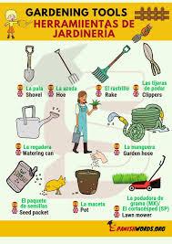 gardening tools herramiientas de