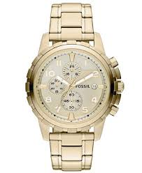 fossil men s chronograph dean gold tone stainless steel bracelet fossil men s chronograph dean gold tone stainless steel bracelet watch 45mm fs4867