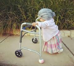 therefore i would say that the zimmer frame is more a symbol of diity rather than old age or those whom old age is disabling them in some way