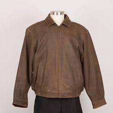 Croft & Barrow Men's Coats and Jackets | eBay & Men's Distressed Leather Jacket Size L Large Brown CROFT & BORROW Adamdwight.com