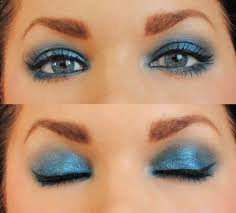 new year s makeup under the blue dress