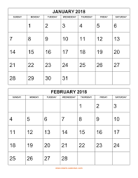 Free Download Printable Calendar 2018 2 Months Per Page 6