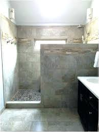 knee wall shower glass pony bathrooms with half walls between marble bathroom cultured panels