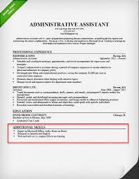 Key Skills Resume Administrative Assistant 26084 Cd Cd Org