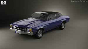360 view of Chevrolet Chevelle SS 454 LS5 convertible 1971 3D ...