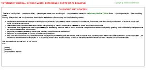 Veterinary Organizational Chart Veterinary Medical Officer Job Experience Letter Example