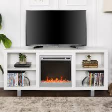 manor park modern fireplace tv stand for tv s up to 64 white