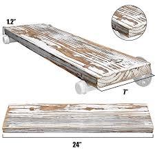 g luck rustic floating shelves wood