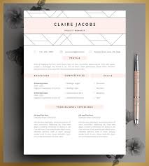 Editable Resume Template Cool Resume Template CV Template Editable In MS Word And Pages Etsy
