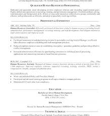Human Resource Resume Objective Hr Generalist Resume Objective Human