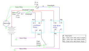 headlight relay conversion for the Car Horn Relay Wiring Diagram VW Beetle Horn Wiring Diagram