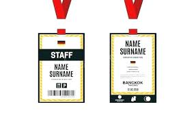 Word Badge Template Conference Badge Design Template Free Word