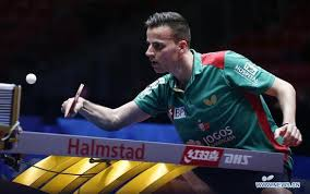 tiago apolonia of portugal returns to lin gaoyuan of china the fourth round of men s group