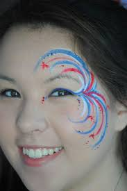 linda you could do this easy fireworks face paint idea face how to do face painting