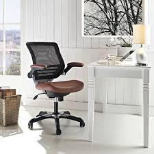 ergonomic office design. Brown Pleather And Mesh Office Chairs Ergonomic Design A