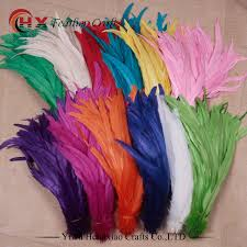 Factory wholesale <b>50pcs</b>/<b>lot</b> colored <b>rooster tail</b> feather colorful 30 ...