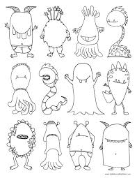 Small Picture Monsters Coloring Page Dabbles Babbles