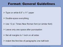 mla format ppt format