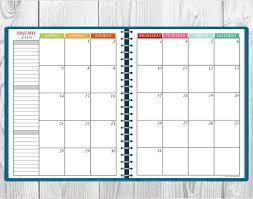 mothly calendar printable multi color 2018 monthly calendar two page spread
