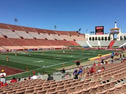 Los Angeles Memorial Sports Arena And Coliseum Seating Chart Los Angeles Memorial Coliseum Section 109a Rateyourseats Com