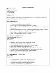 91 Resume Templates For Nursing Resume Sample Nursing Job Valid