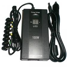 100W Dual-use LED Display Laptop Power Adapter <b>Household</b> Car ...