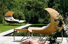 unusual outdoor furniture. Odd Patio Furniture Unique And Unusual Outdoor Awesome Backyard Pool Stainless Steel Legs Chair Natural Color .