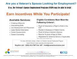 Veterans Spouse Employment Program Careersource Okaloosa Walton