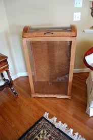 Quilt Cupboard (I want one!) | Quilts | Pinterest | Quilt, TVs and ... & Maple Quilt Curio Cabinet | eBay Adamdwight.com