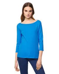 Light Blue 3 4 Sleeve Dress 3 4 Sleeve T Shirt Light Blue Benetton