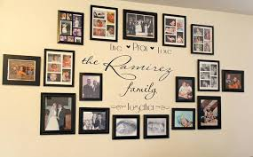 family picture frame wall decor idea wall frame homes family picture frames ideas