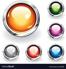 Glossy Buttons Royalty Free Vector Image Vectorstock