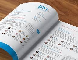 Design Conference Program Conference Brochure Conference Program Booklet Design