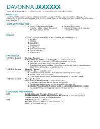Simple Ideas Massage Therapist Resume Example Massage Therapist