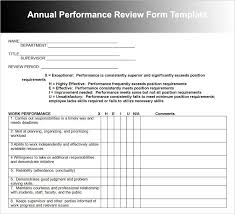 Easy Performance Review Template Easy Employee Evaluation Form Word Pdf Print Download