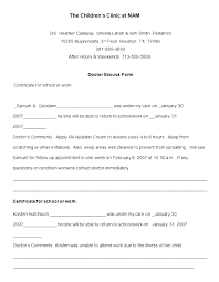 Free Doctors Note For Work Work Excuse Form Brrand Co