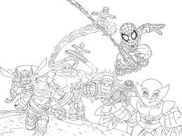 Lego Superhero Printable Coloring Pages Girl Logos Marvel Free For