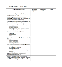 Recruiting Plan Template Sample Recruiting Plan Template 9 Free Documents In Pdf Word