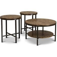 rustic round coffee table set sedona