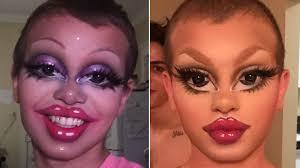 drag queen matte is behind the bratz inspired makeup all over insram allure