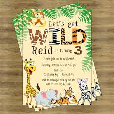 Free Printable Safari Birthday Invitations Party Animal Invitations Image 0 Safari Party Invitations