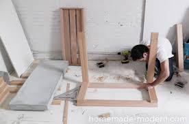 homemade modern diy ep38 wood concrete kitchen island step 13
