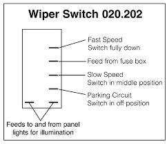 wiring diagrams for classic car parts from holden vintage windscreen wipers rocker switch off on on
