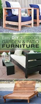 Easy diy outdoor garden patio furniture the garden glove