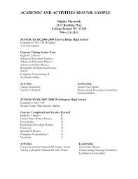 Highschool Resume Examples High School Resume Template Word Format ...