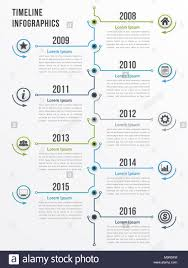 Vertical Timeline Infographics Template Workflow Or Process