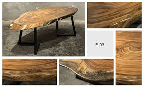 brand new solid ebony wood slab coffee table with iron stands item no table wslab e03 unique style ebony wood table top exceptionally beautiful streaks